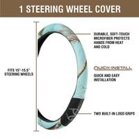 5 - Piece Realtree Mint Auto Kit Steering Wheel