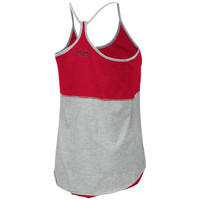 Women's Reversible Racerback Tank Gray Back