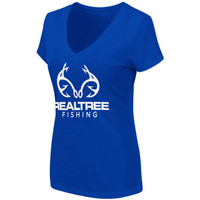 Women's Fishing V-Neck Shirt Blue