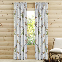 Realtree Gray Camo Window Drapes