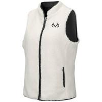 Women's Reversible Sherpa Fleece Vest White