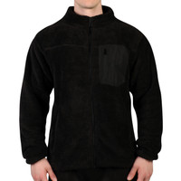 Men's Sherpa Fleece Full Zip Jacket with Media Pocket
