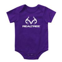 Infant Antler Logo Onesie Purple