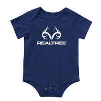 Infant Antler Logo Onesie Navy