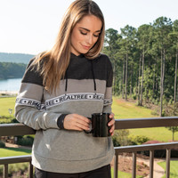 Women's Realtree Woven Tape Fleece Hoodie Model