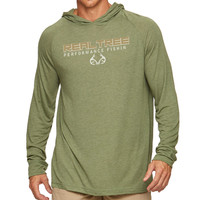 Barb Hooded Long Sleeve Tee in Green