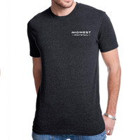 MidWest Whitetail Signature Series Two Tee Black Front