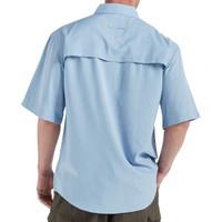 Men's Fishing Angler Fishing Shirt Blue Back