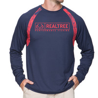 Men's Strike Performance Long Sleeve Tee in Navy
