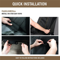 Realtree Ice Blue Lowback Seat Cover install