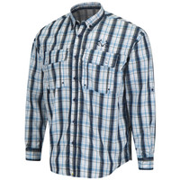 Upstream Longsleeve Fishing Shirt blue - front