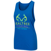Lake Life Tie-Back Tank Blue Front