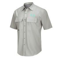 Men's Realtree Fishing Air Cast Fishing Shirt Sunset Gray