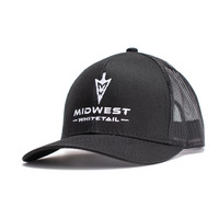 MidWest Whitetails Black Pro Series Hat Side