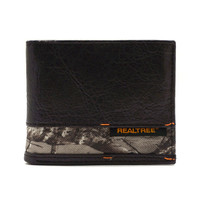 Passcase Wallet with Camouflage insert and woven label