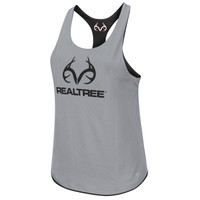 Women's Reversible Tank Gray Front