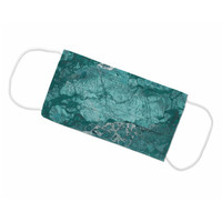 Realtree Wave Teal Face Mask - Flat