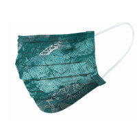 Realtree Wave Teal Face Mask - Side
