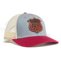 Realtree Road Trips Limited Edition Leather Patch Richardson Hat in Red