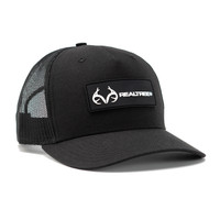 Realtree Logo Black Mesh Back Richardson Hat