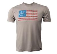Men's Turkey Flag Short Sleeve Gray Shirt