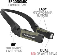 Realtree USB Rechargable LED Neck Light Hands-Free Lighting