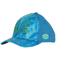 Sonar Blue Fishing Cap Side