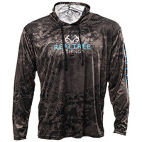 Realtree Wav3 Hooded Fishing Performance Shirt in Black