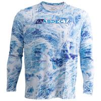 Men's Aspect Blue Fishing Performance Long Sleeve Shirt