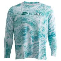 Men's Aspect Teal Waters Fishing Performance Long Sleeve Shirt
