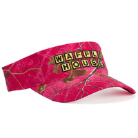 Waffle House Xtra Colors Camo Visor in Hot Pink