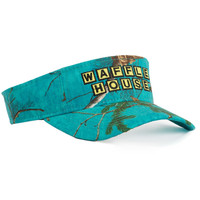 Waffle House Xtra Colors Camo Visor in Teal