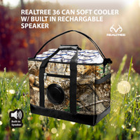 Realtree EDGE Camo 36 Can Soft Cooler with Bluetooth Speaker
