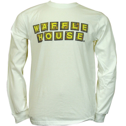 Waffle House Long Sleeve T-Shirt in White