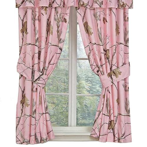 Realtree Camo Window Drapes in AP Pink