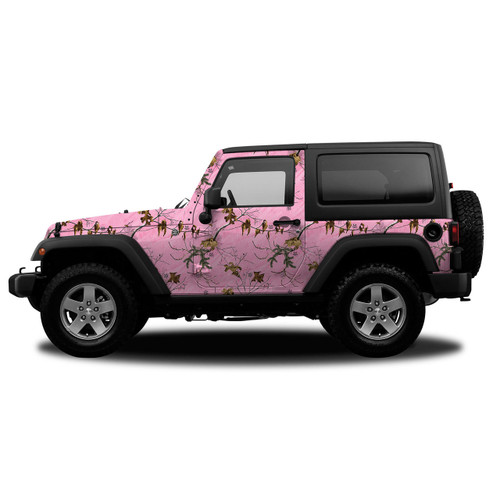 Realtree Camo Jeep/SUV Vehicle Wrap Xtra Pink