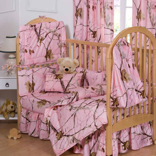 Realtree AP Pink Complete Crib Bedding Set