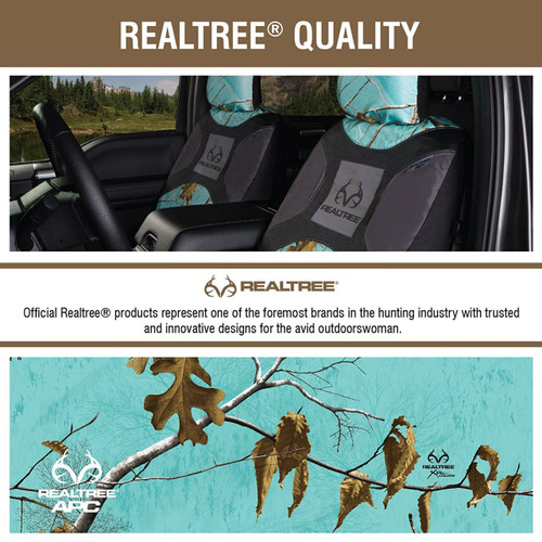 Realtree Mint Camo Low Back Bucket Seat Cover Color