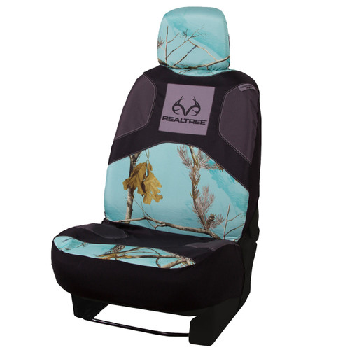 Realtree Mint Camo Low Back Bucket Seat Cover