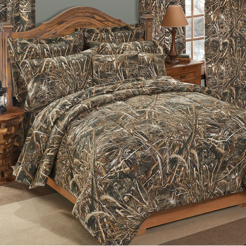 Realtree Max-5 Camo Comforter Sets Shown in Full