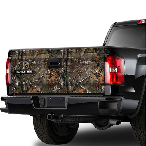 Realtree Camo Truck Tailgate Graphic in Xtra