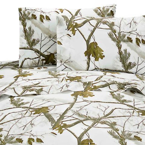 Realtree AP Snow Camo Sheet Sets