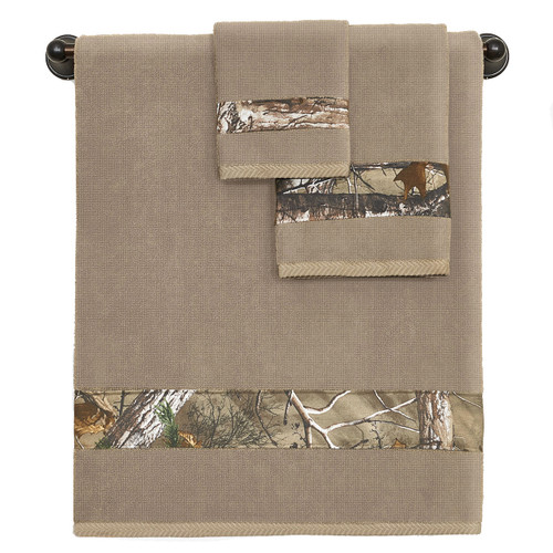 Realtree Camo 3-Piece Towel Set in Xtra