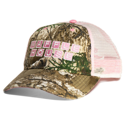 Reatlree Edge Waffle House Trucker Cap with Pink Accents