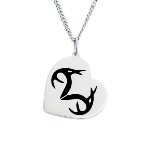 Stainless Steel Realtree Black Heart pendant