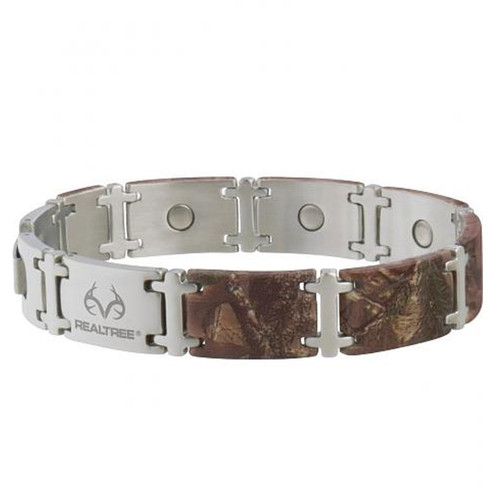 Realtree Xtra Stainless Steel Magum Link Bracelet