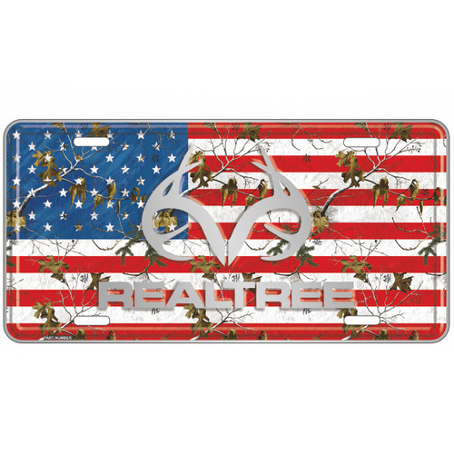 Realtree Patriotic Antler License Plate