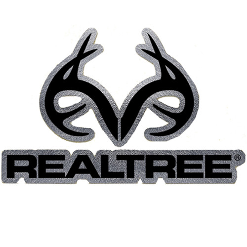Realtree Outfitters Black and Chrome Decal
