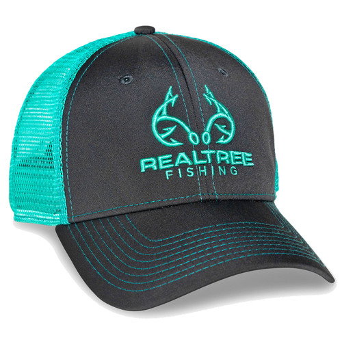 Custom Realtree Mint Fishing Logo Mesh Back Hat