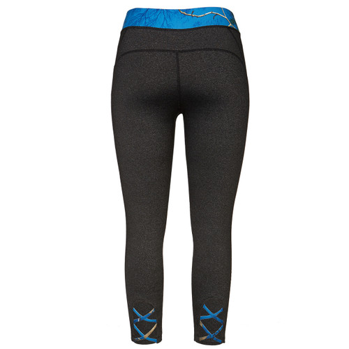 Realtree Women's Blue Camo CrissCross Active Capri Back